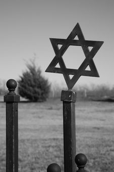 Jewish Star Of David In Cemetery Stock Images