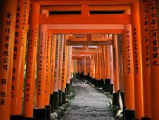 Free Torii, Shrine, Symmetry, Aisle Royalty Free Stock Image - 120958476