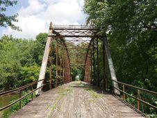 Free Bridge, Truss Bridge, Nature Reserve, Tree Stock Photography - 120958632