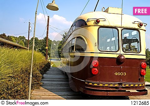 Old Time Street Trolley - 5 Stock Photo