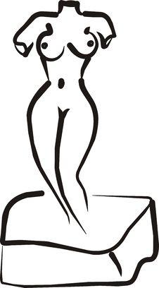 Venus Nude Sculpture Royalty Free Stock Image