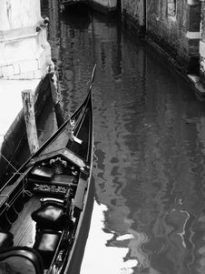 Gondola In Black Stock Images