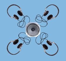 Modern Headphones Stock Images