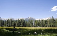 Free Scenic Mountain Meadow,Edison Lake Royalty Free Stock Photography - 1212257