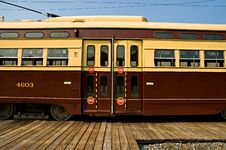 Old Time Street Trolley - 4 Stock Photos