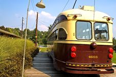 Old Time Street Trolley - 5 Royalty Free Stock Photo