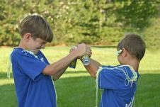 Free Boys Shooting String Royalty Free Stock Photo - 1212755