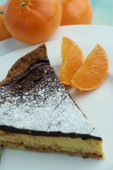 Free Chocolate Mocha And Orange Cheesecake Dessert Royalty Free Stock Photography - 1213457