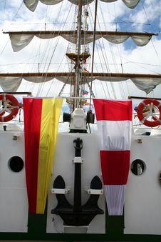 Sailboat Anchor And Mast