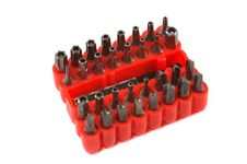 Free Screwdriver Bit Set Stock Photography - 1214532