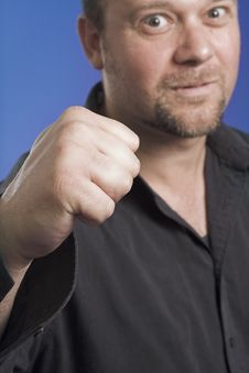 Free Showing Fist Stock Image - 1215761
