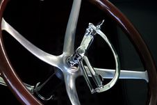 Free Antique Steering Wheel Stock Photo - 1216100