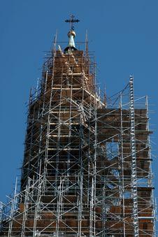 Free Saint Wenceslas Cathedral Olomouc, Czech Republic - Scaffolding Royalty Free Stock Photo - 1216435