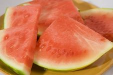 Watermellon Platefull Stock Photography