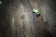 Wall Climber Stock Photography