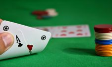 Free Cards Showing A Royal Flush Stock Image - 1218361