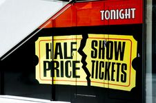 Free Half Price Show Tickets Royalty Free Stock Photos - 1219308
