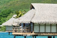 Free Overwater Bungalow Royalty Free Stock Image - 1219386