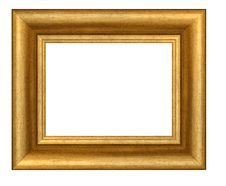 Free Gold Plated Wooden Frame Royalty Free Stock Photography - 12111057