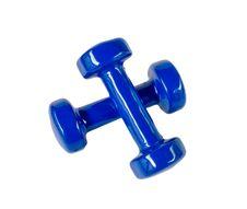 Blue Fitness Dumbbells Stock Image