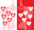 Free Greeting Card Design With Hearts Royalty Free Stock Photo - 12132655