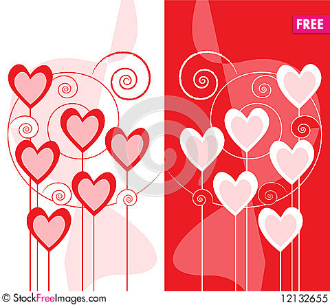 Design for greeting card wblqual greeting card design with hearts free stock photos images greeting card m4hsunfo