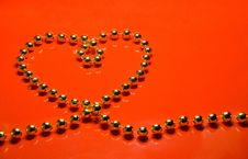 Free Heart From Beads Stock Images - 12149614