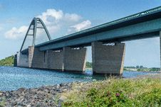 Free Bridge, Beam Bridge, Fixed Link, Concrete Bridge Stock Image - 121556121