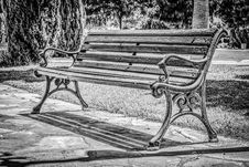 Free Furniture, Black And White, Bench, Monochrome Photography Royalty Free Stock Image - 121662866