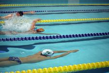 Free Swimming, Swimmer, Medley Swimming, Freestyle Swimming Stock Image - 121663151