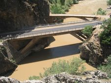Free Bridge, Concrete Bridge, Beam Bridge, River Stock Photography - 121707592