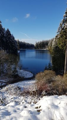 Free Winter, Snow, Reflection, Water Stock Images - 121707804