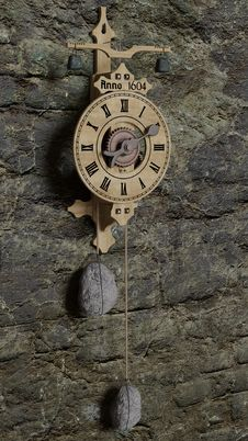 Free Clock, Wall Clock, Wood, Metal Royalty Free Stock Images - 121708239