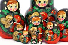 Free Bright Wooden Dolls Royalty Free Stock Images - 12198779