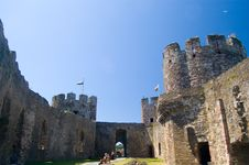 The Surrounding Walls Of The Castle Royalty Free Stock Images