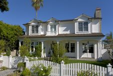 Custom Home In Newport Beach, CA Royalty Free Stock Photography
