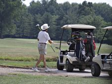 Free Senior Golfer Royalty Free Stock Image - 1223166