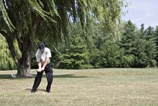 Free Golfer And Trees Royalty Free Stock Photos - 1223228