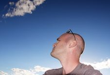 Free Man In Clouds Stock Photography - 1223512
