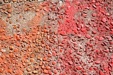 Red And Orange Concrete Royalty Free Stock Photo