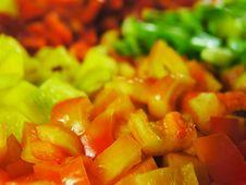 Four Colors Paprika 2 Stock Images