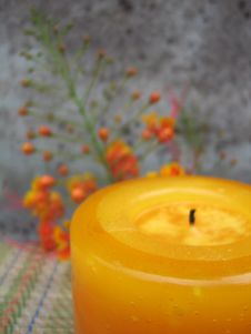 Free Floral Candle Stock Images - 1225244