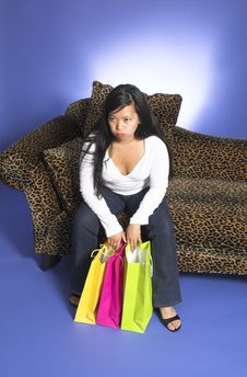 Free Tired After Shopping Stock Photography - 1226052