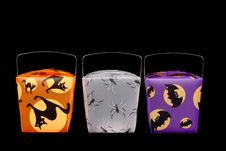 Halloween Candy Carriers Stock Images