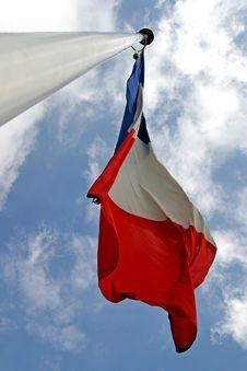 Free Flying French Flag And Clouds Royalty Free Stock Image - 1226926