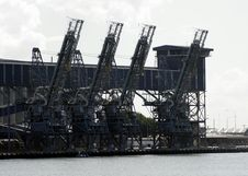 Harbour Crane Royalty Free Stock Images