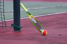 Free Ball Racket And Net Stock Photography - 1227282