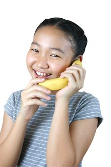 Free Banana Phone (series) Royalty Free Stock Photos - 1228338