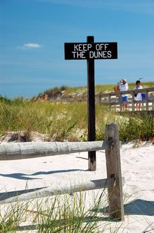 Free Keep Off The Dunes Too Stock Photos - 1229373
