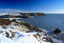 Free Snow On The Coast Royalty Free Stock Image - 1229556